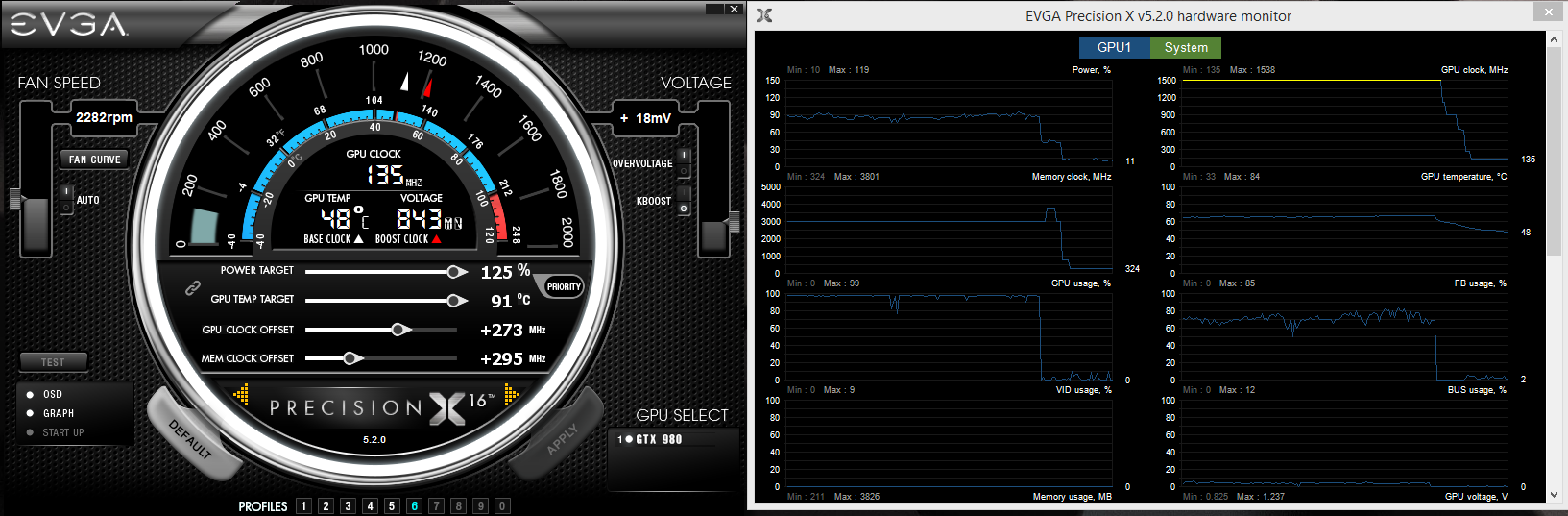 EVGA Precision X 16 : overclocking madness !