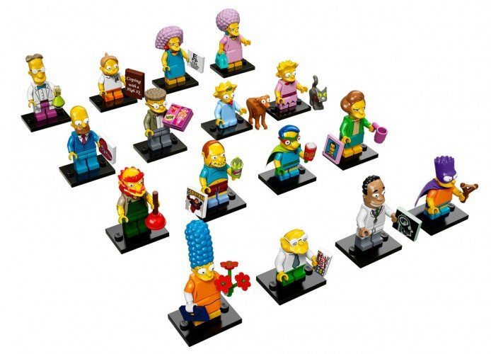 Simpson minifigures