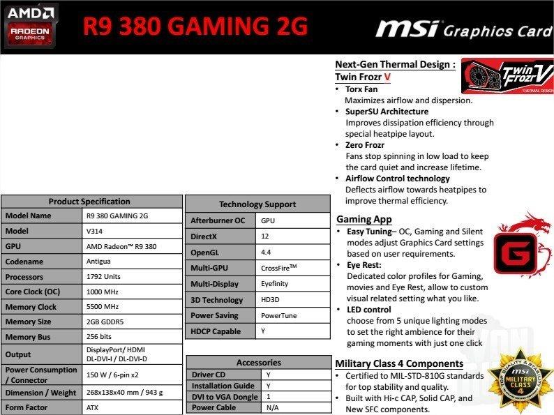 R9 380 Gaming 2G