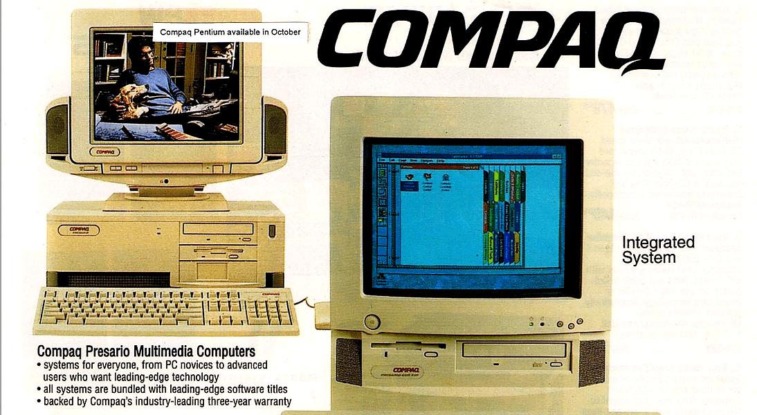Publicité pour un ordinateur Compaq (1996)
