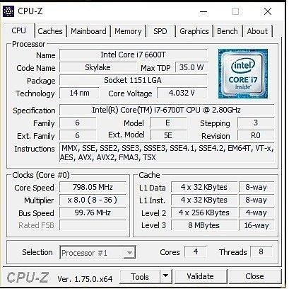 HP Envy CPUZ