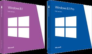 Deux éditions, un packaging sobre et efficace. L'une des rares réussites de Windows 8