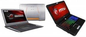 Le ROG752 et le MSI GT60 : Des portable épais et lourd mais quel refroidissement!