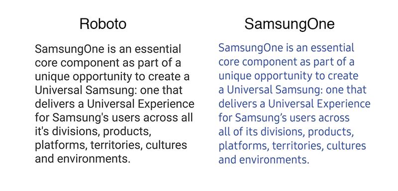 SamsungOne-vs-Roboto