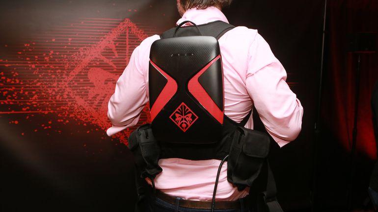 Nouveaux produits 9a755 c3228 Le sac à dos de HP pour le VR gaming est léger, petit, mais ...