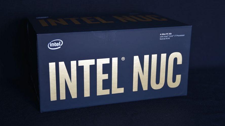 Intel NUC SKullCanyon Face Avant