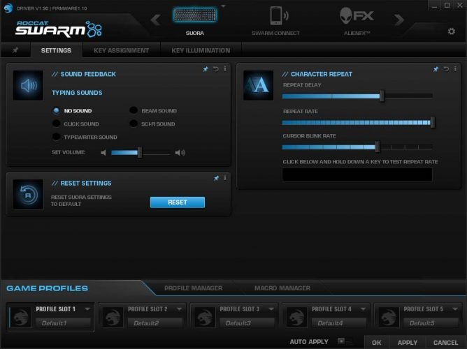 roccat-suora-swarm-settings