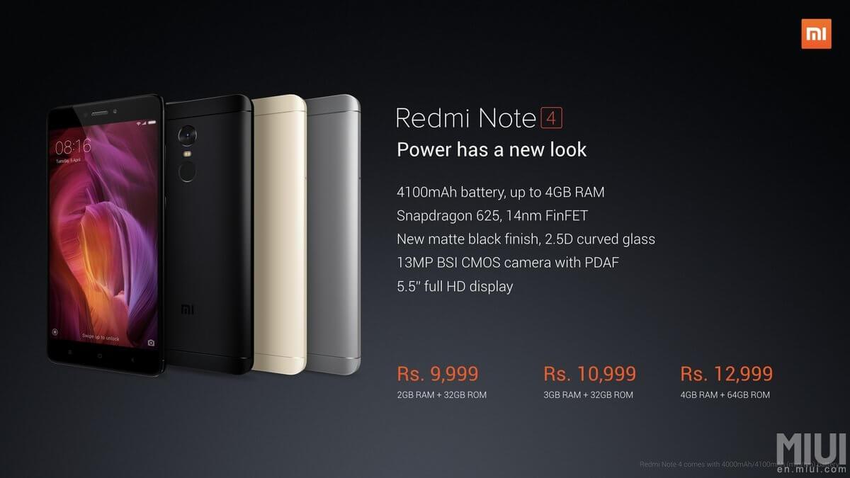 Xiaomi Redmi Note 4 Snapdragon Il Est Officiel