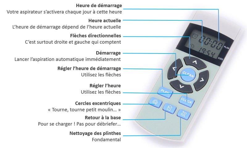 chuwi ilife v5 robot aspirateur telecommande