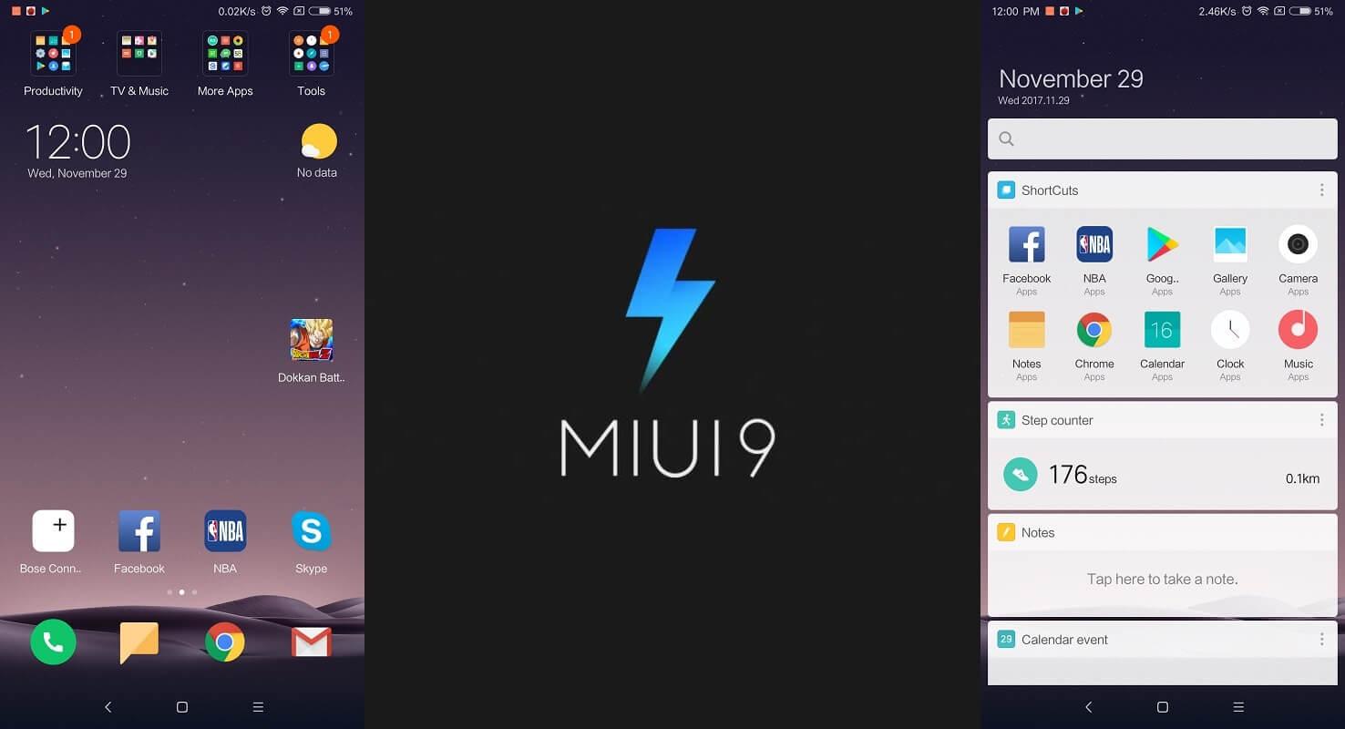 Xiaomi mi mix 2 MIUI raccourci