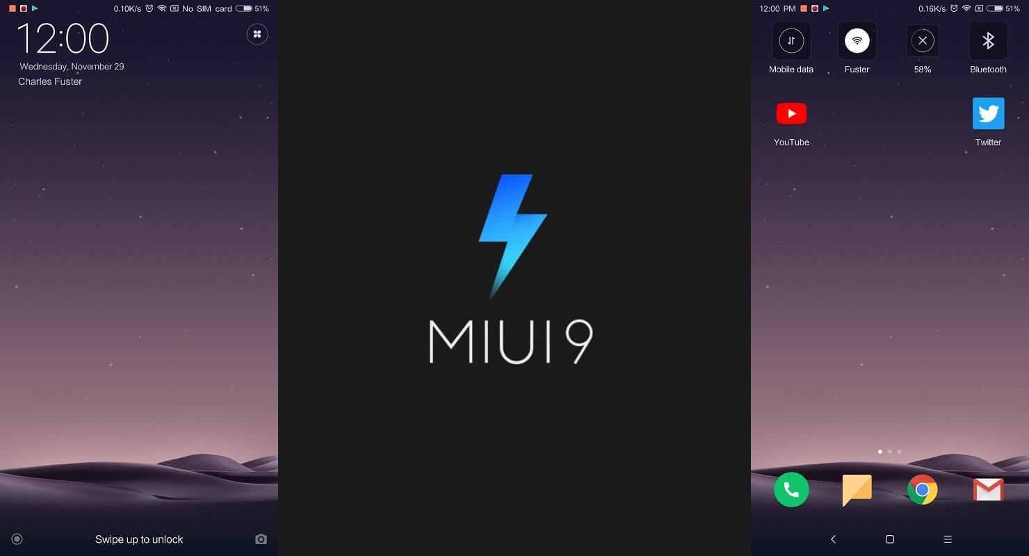 Xiaomi mi mix 2 MIUI accueil