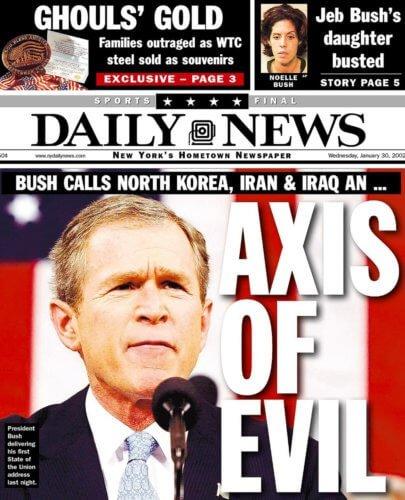 George Bush Axe du Mal