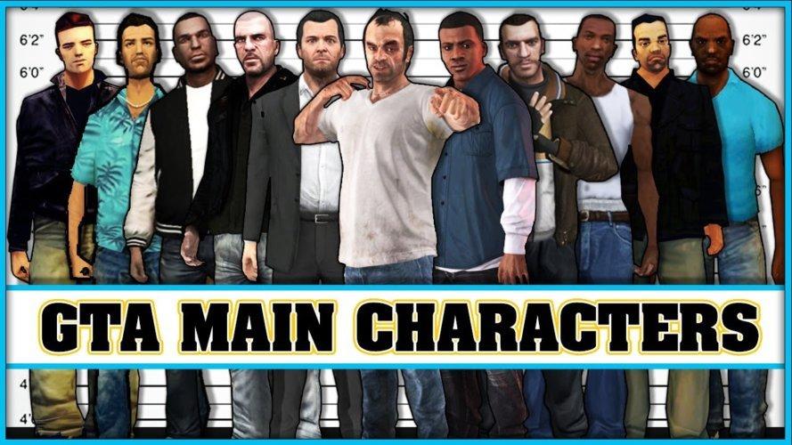 Les personnages principaux de la série GTA