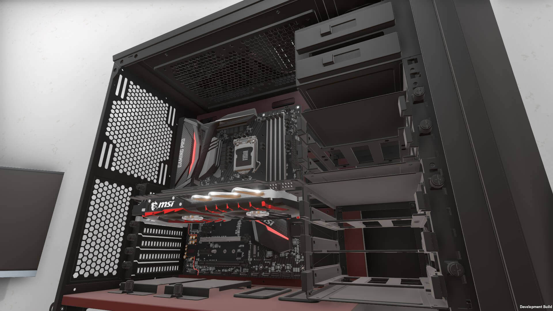 msi pc building simulator