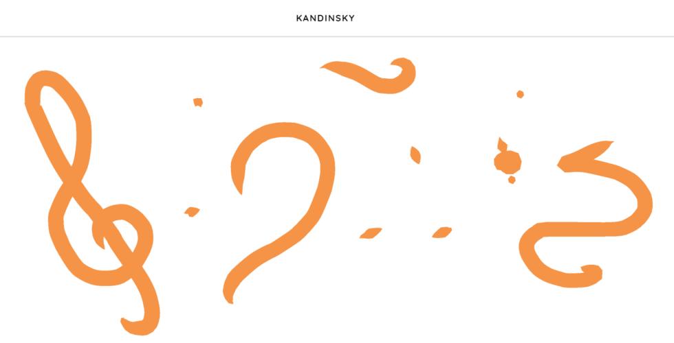 Chrome Music Lab - Kandinsky section