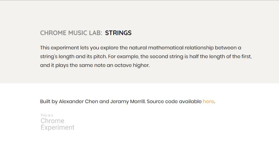 Chrome Music Lab - advise