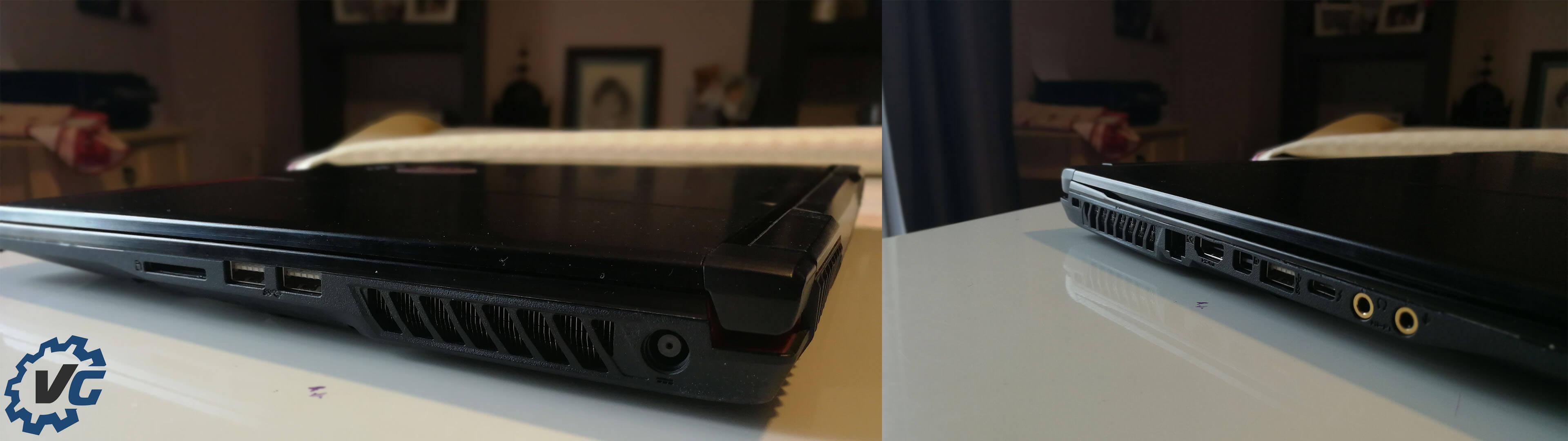 Connectiques du laptop