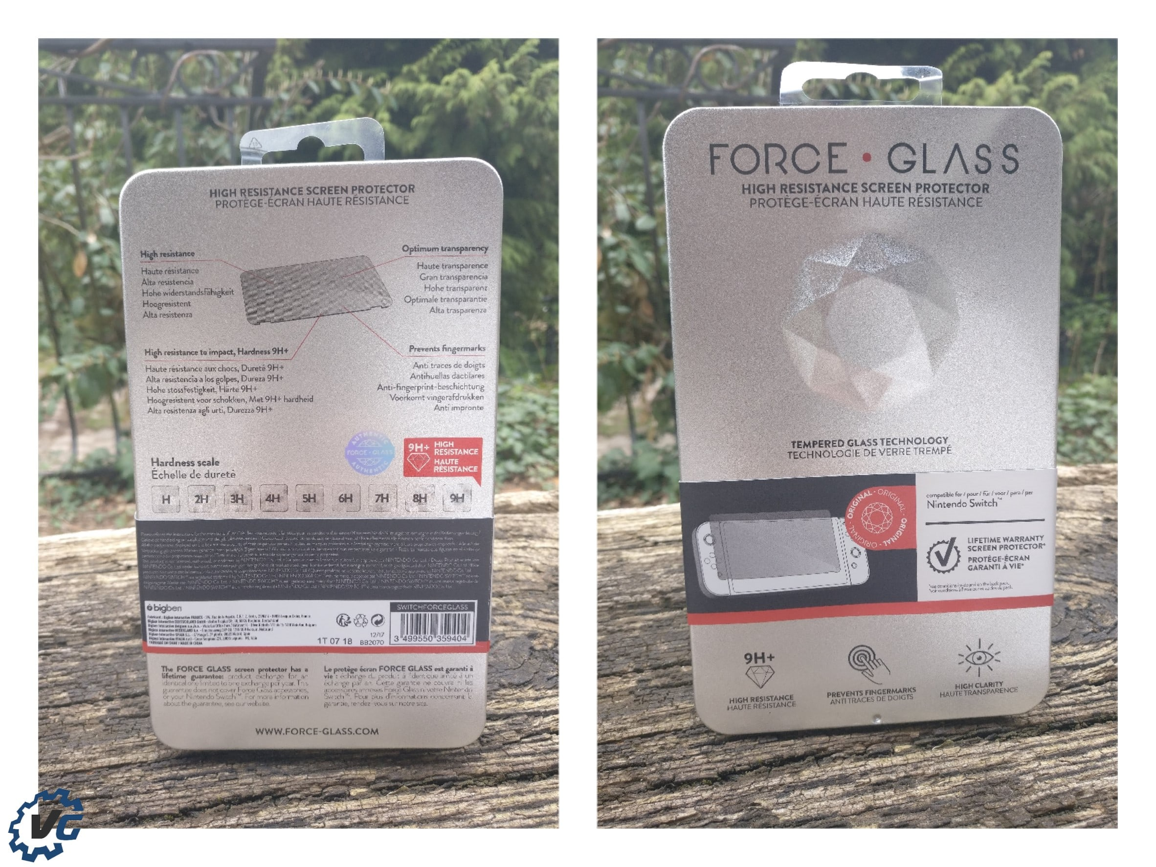 Force Glass BigBen écran de protection Nintendo Switch