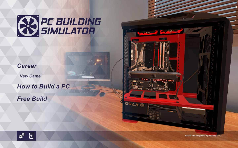 menu pc building simulator