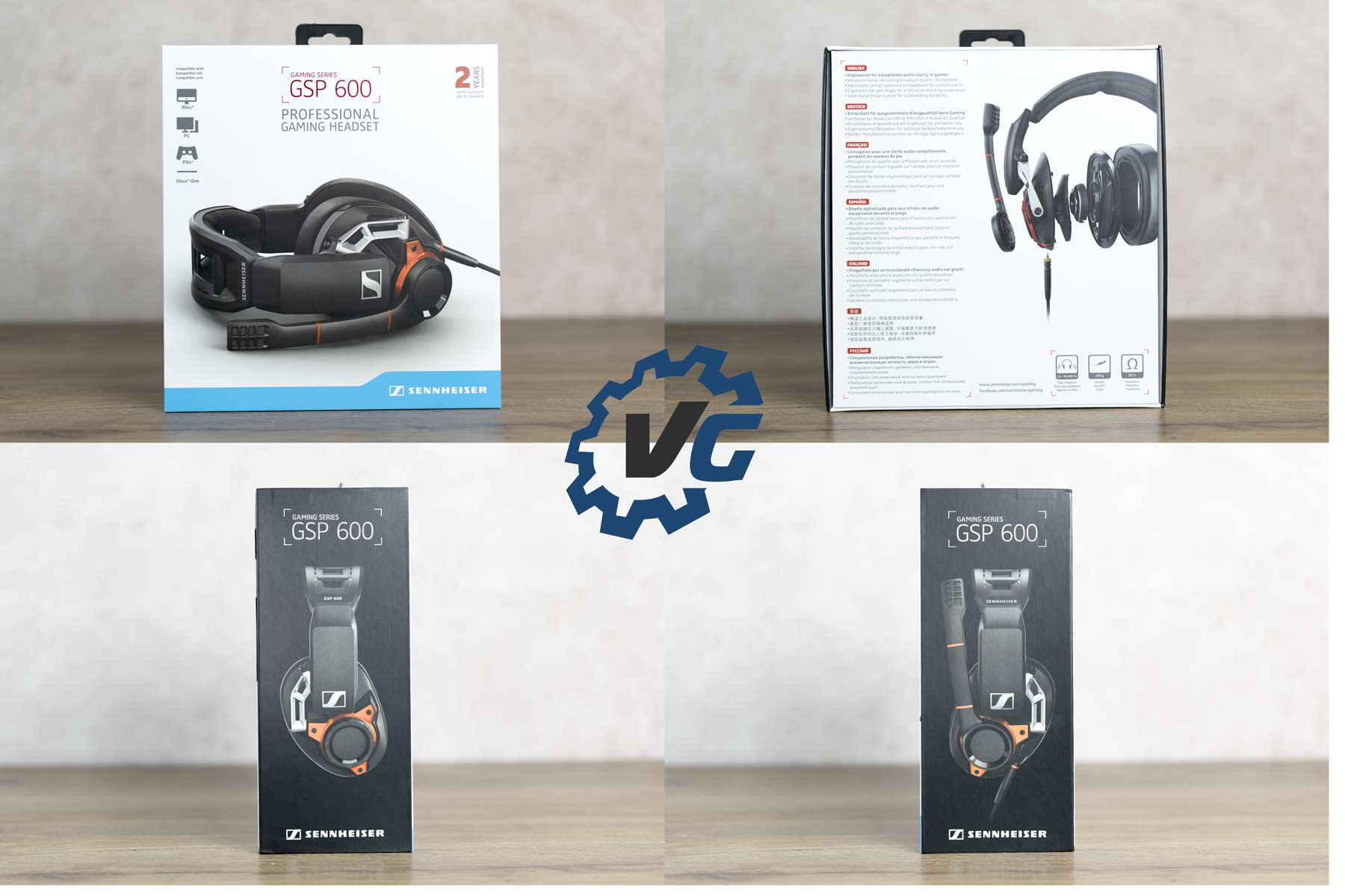 Test casque gameur Sennheiser GSP 600 packaging