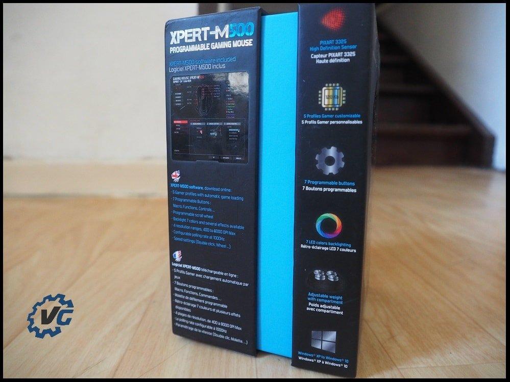 Souris Spirit of Gamer Xpert-M500 unboxing côté
