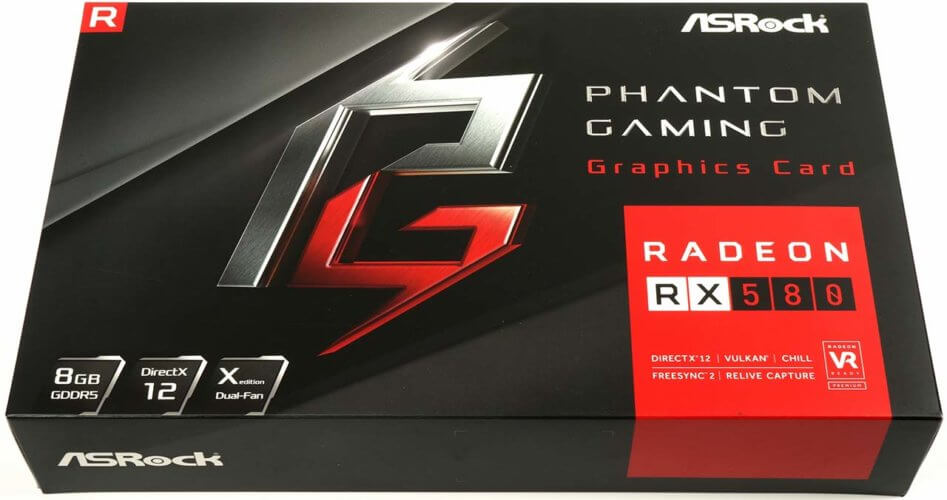 asrock rx580 phantom gaming