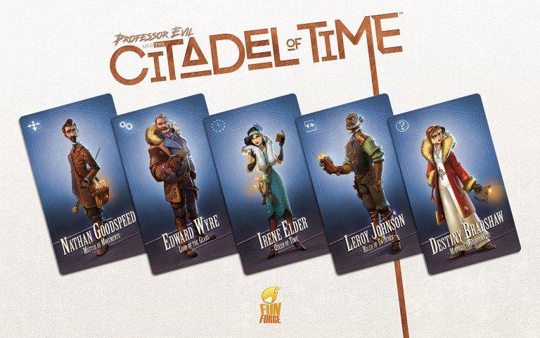 Citadelle du Temps personnages