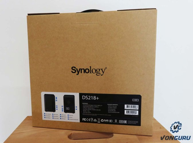 synology ds218+ boite