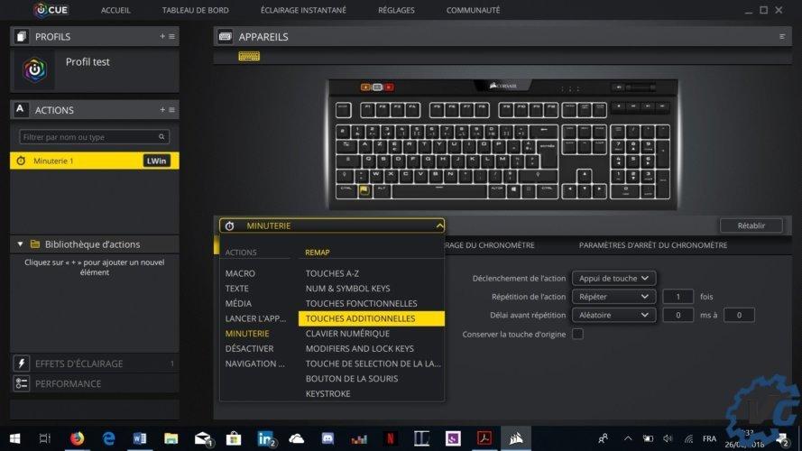 Logiciel clavier Corsair MK.2