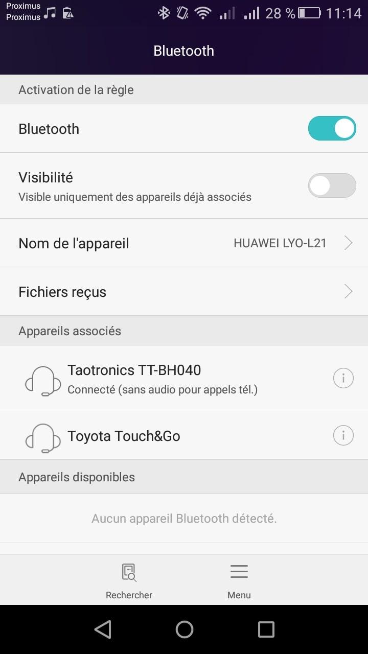 Casque wireless TaoTronics TT-BH040 paramétrage Bluetooth