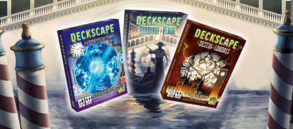 Deckscape trois jeux