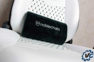 Test fauteuil Noblechairs ICON blanc noir coussin en velours