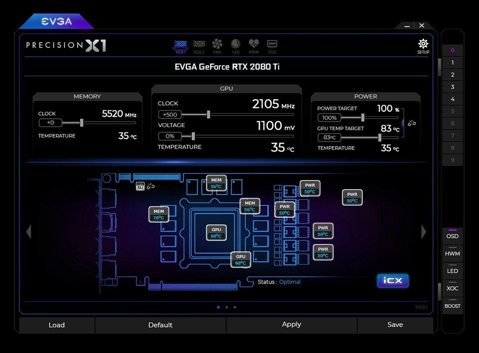 Système de refroidissement EVGA iCX2