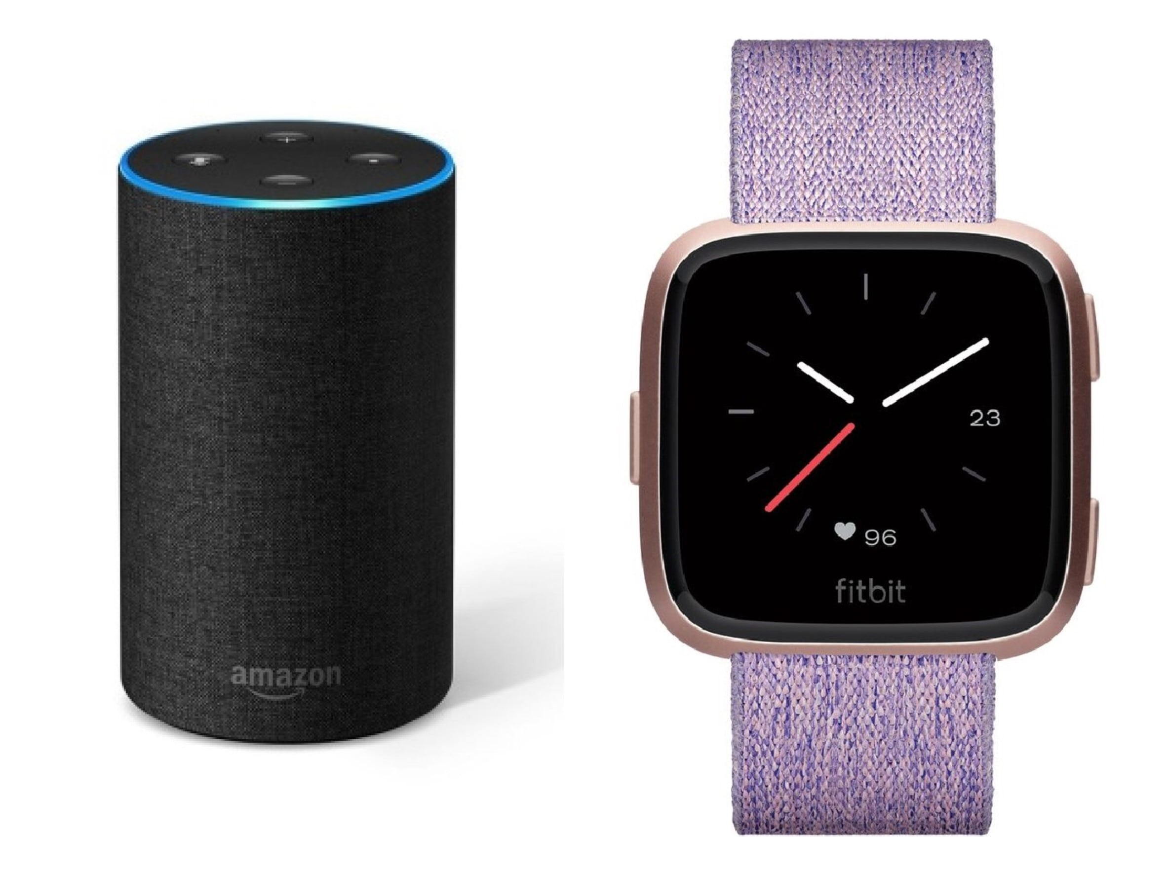 Amazon Echo Fitbit Versa