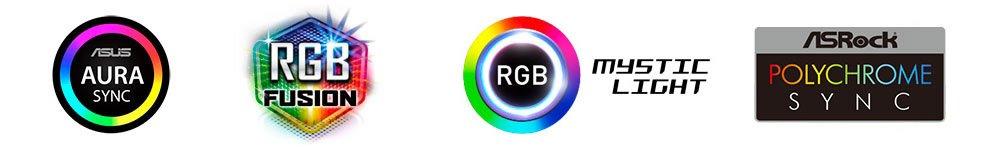 Liste des fabricants compatibles RGB.