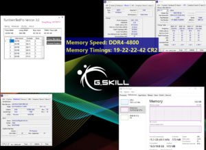Le kit DDR4 de chez GSkill à 4800 MHz.