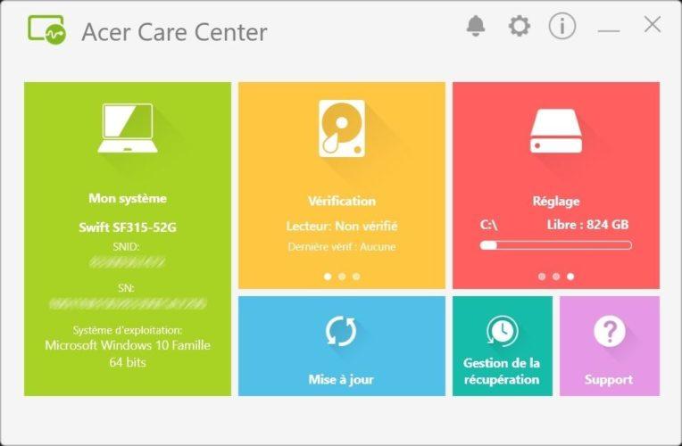 Acer Swift 3 App