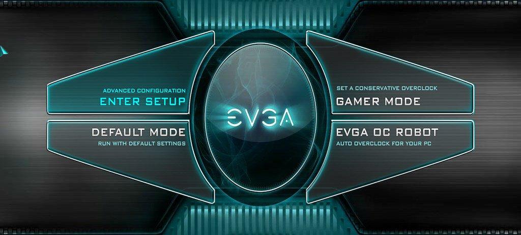 Nouvelle interface des bios EVGA.