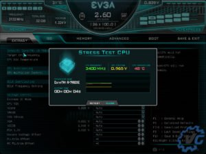 Nouvelle interface des bios EVGA.