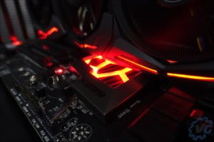 Les tests en watercooling avec la X299 FTW K de EVGA.