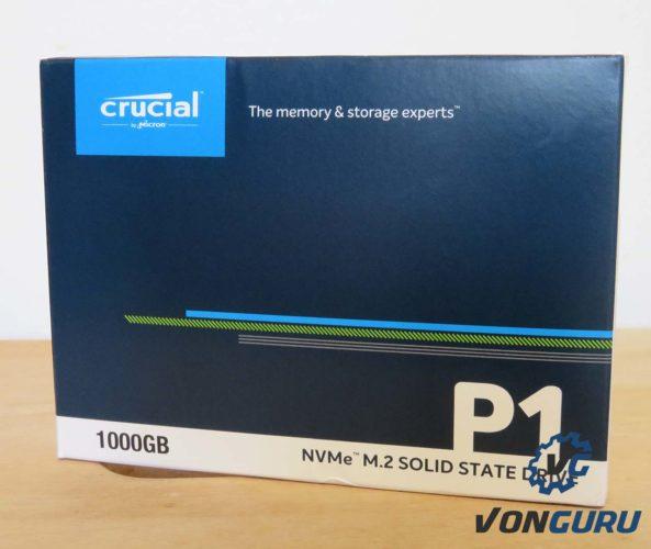 SSD Crucial P1 boite avant