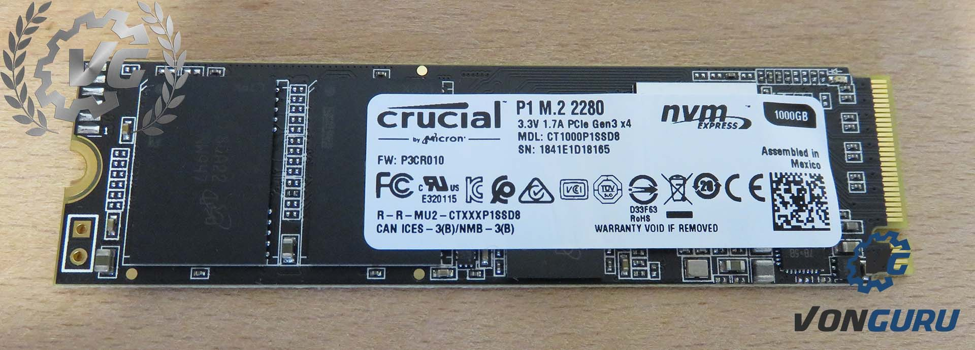 SSD NVMe Crucial P1