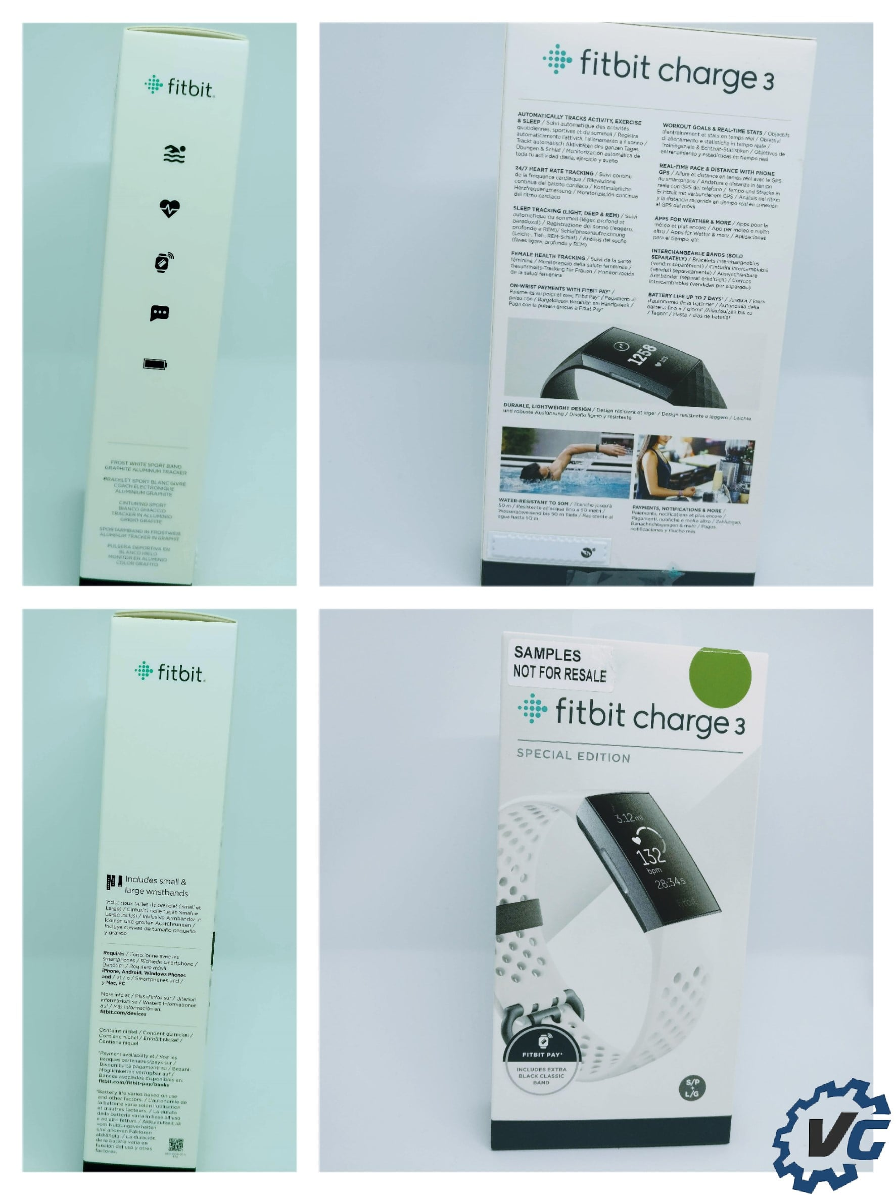 Fitbit Charge 3 box