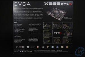 La boite de la carte mère EVGA FTW K X299.