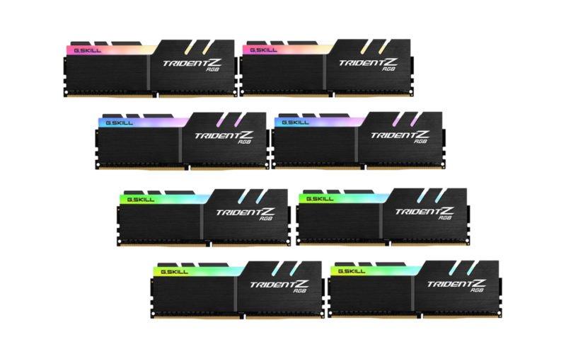 Trident Z RGB DDR4-4000 CL19-19-19-39 8x16GB 1.35V