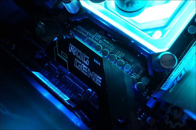 Configuration micro-ATX asus avec boitier In Win prototype.