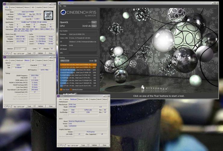 L'EVGA Z390 DARK se paie le record du monde à CineBenchR15.