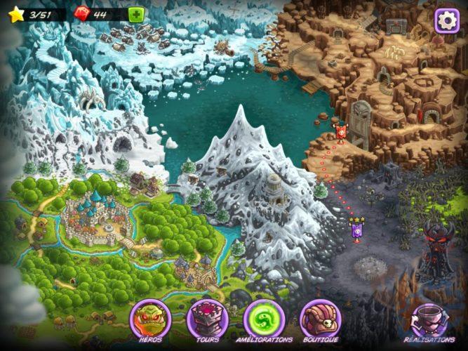 Kingdom Rush Vengeance Map