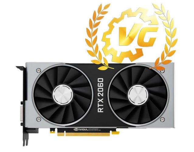 Award gold NVIDIA RTX 2060 Founders Edition