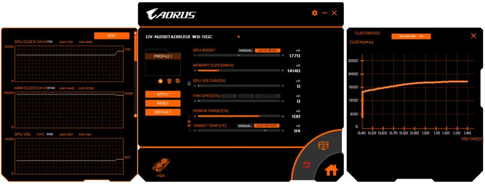 Le soft d'overclocking AORUS ENGINE.